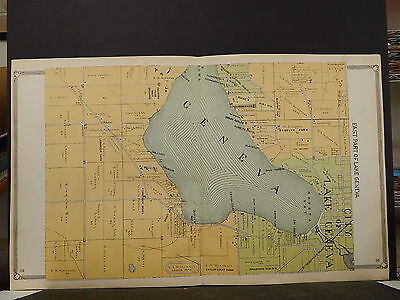 Wisconsin, Walworth County Map, 1907, Geneva Lake, Three Double Pages, Z6#39