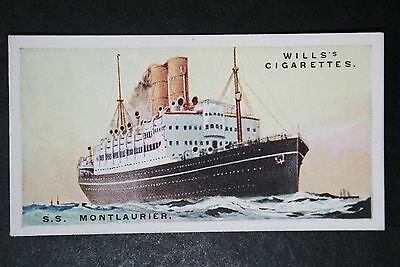 SS Montlaurier   Canadian Pacific Liner    1920's Vintage Card