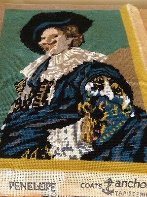Completed Penelope Tapestry Of The Laughing Cavalier .