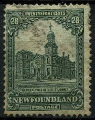 Newfoundland 1928-9 SG#177, 28c Deep Green GPO St. Johns Used Cat £70 #D44614