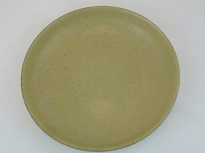 Heath Vintage Speckled Brown Gold Mustard Coupe 8 Inch Salad Plate