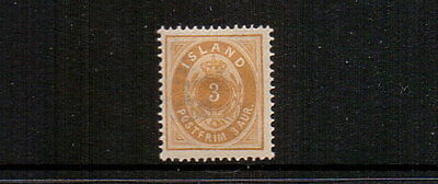 ICELAND 1891 3a MH CAT £60
