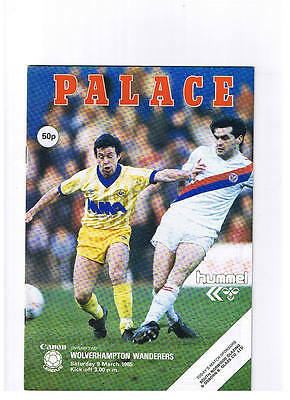 Crystal Palace v Wolverhampton Wanderers Div 2 March 1985