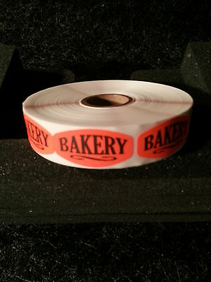 "1.5"" x .75"" BAKERY DESIGN LABELS 1000 ea PER ROLL 1M/RL free shipping STICKERS"