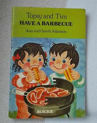 Childrens Book - TOPSY and TIM - Have a Barbecue - 1979 - Blackie - p/b