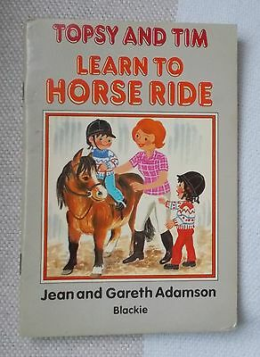 Childrens Book - TOPSY and TIM - Learn to Horse Ride - 1986  - Blackie - p/b