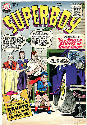 Superboy # 71 - Krypto Appears - Curt Swan Cover Art - Cents Copy