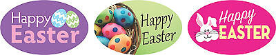 "1.25"" x 2"" HAPPY EASTER 3 LOOKS ON ROLL LABELS 500 PER ROLL GREAT STICKERS"