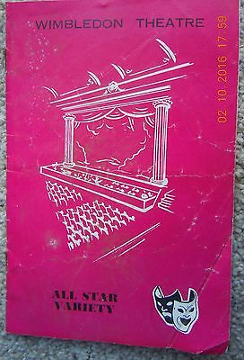 Wimbledon Theatre Programme - All Star Variety - Bill Pertwee, Billy Cotton-1963