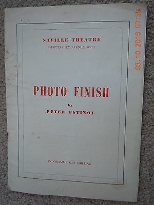 Saville Theatre Programme - Photo Finish- Peter Ustinov,diana Wynyard-March 1962