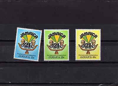 Jamaica - 21St Anniversary Of Independence  Sg583-585 Mnh
