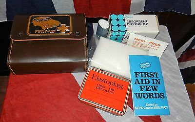 Vintage Classic Car First Aid Kit With Assorted Contents Cool Gift