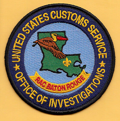 U4 * Usc Baton Rouge Louisiana Invest Dhs Ice Federal Fbi Swat Police Patch Atf
