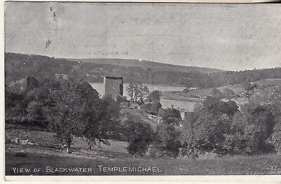 VIEW OF BLACKWATER TEMPLEMICHAEL 1910s+WATERFORD BRIDGE 30s 2 POSTCARDS UNPOSTED