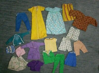 Vintage Cut & Sew Free Clothes lot for Barbie and like dolls 19 pieces