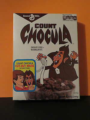 2015 Count Chocula Cereal Box With Free Cut-Out Halloween Mask Full Box