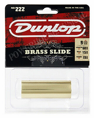 Jim Dunlop 222 Brass Guitar Finger Slide (Medium) *new*