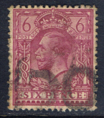 Great Britain #167(10) 1912 6 pence rose lilac George V Used CV$6.50