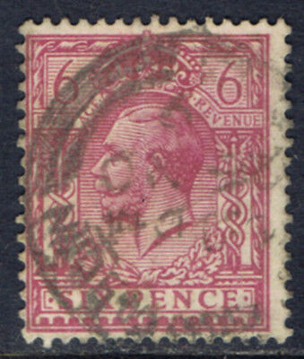 Great Britain #167(5) 1912 6 pence rose lilac George V Used CV$6.50