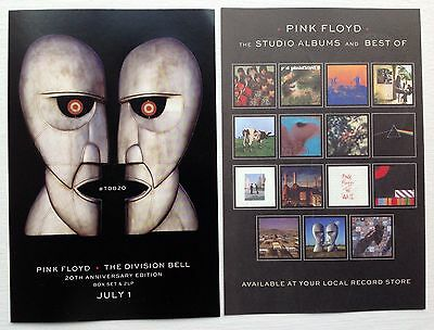 PINK FLOYD lot of 2 promotional stickers THE DIVISION BELL 20th anniversary