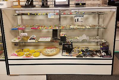 { Store Closing } Glass Retail Display Case Showcase 5 Foot Long Good Used pick