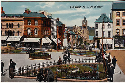 THE DIAMOND LONDONDERRY EARLY 1900s VALENTINE'S SERIES POSTCARD UN-POSTED 76854