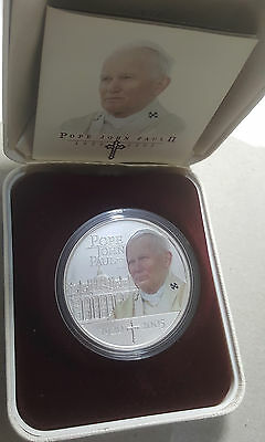 Cook Islands $1 Dollar 999 1oz Silver Proof Pope John Paul II GEM FDC Coin