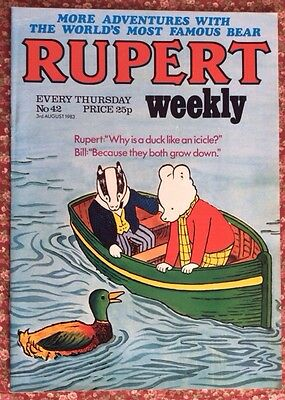 RUPERT WEEKLY COMIC. No.42. 3AUG 1983. UNSOLD NEWSAGENT STOCK. UNREAD V/FN+ (1