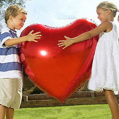 "32"" Giant Heart Shape Large Foil Balloon Love Wedding Birthday Party Decoration"