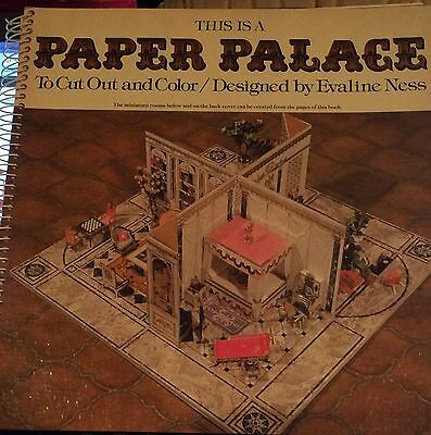 This Is a Paper Palace to Cut Out and Color by Evaline Ness - 1976