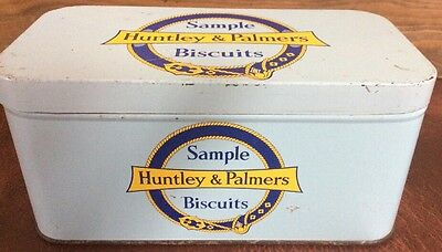 Huntley & Palmers Sample Biscuits Tin. Collectible Advertising Tin.