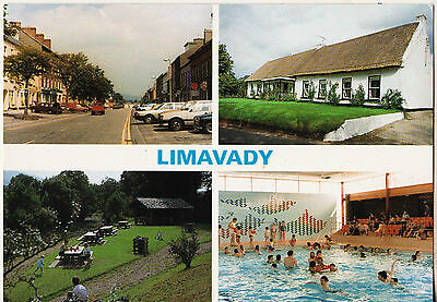 LIMAVADY 1990s - 2000s MULTI-VIEW 2 POSTCARDS UN-POSTED BY LIMAVADY COUNCIL