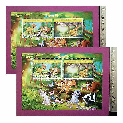Walt Disney BAMBI 2016 CHAD for children PRETTY stamps Sheetlet GIFT