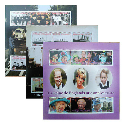 Titanic AbbeyRoad HM The Queen 'premier jour' stamped NH 6 value sheetlet UKpost