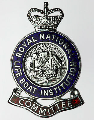 RNLI Committee Lifeboat ~ Vintage Enamel Pin Badge ~ ALL PROCEEDS TO RNLI