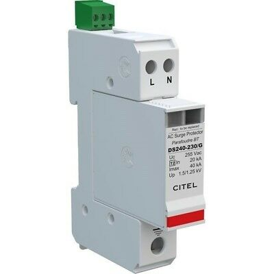 CITEL DS240S-230/G AC Surge Protector Type 2 230V 1 Phase 2 Pole CT2 Imax 40KA