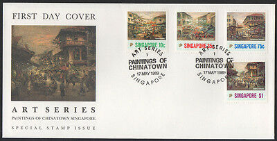 """1989, Singapore """"Paintings of Chinatown"""" illustrated, unaddress FDC."""