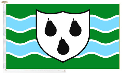 Worcestershire County Roped & Toggled 5' x 3' Courtesy Boat Flag