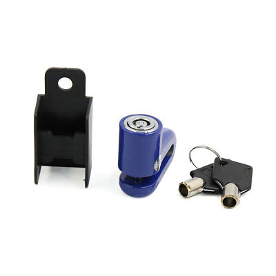 Security Safety Anti-theft Disc Brake Lock Protector Blue w 2 Key for Motorbike