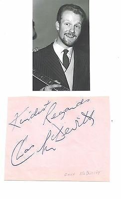 CHAS McDEVITT- Popular Late 1950's British Skiffle Musician-Signed Album Page