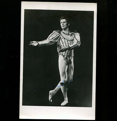 Ballet Michael Somes Hand Signed RP Postcard