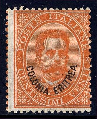 Eritrea Sc. 5, 1892 20c King Humbert I issue, Orange, OG, Mint, Fine.