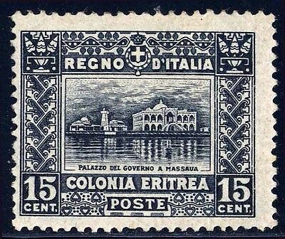 Eritrea Sc. 47, 1910 15c Government Building issue, OG, VLH, F-VF.