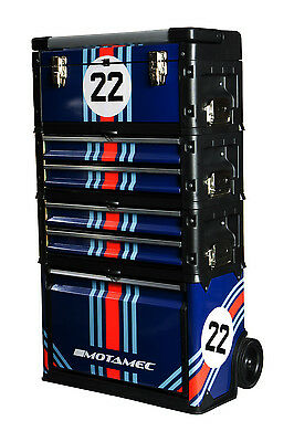 Motamec Modular Tool Box Trolley Mobile Cart Cabinet Chest C41H Martini Racing