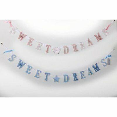 Wooden Sweet Dreams Bunting Chain Garland Nursery Bedroom Decoration Baby Girl
