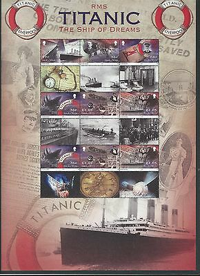 Isle Of Man 2012 Centenary Sinking Of The Titanic Sheetlet  Unmounted Mint,mnh
