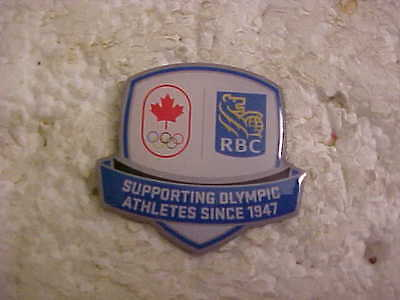 Royal Bank Olympic Sponsor Pin Supporting Olympic Athletes Since 1947