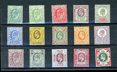 Great Britain  1902  Edward VII  Set to 1s  Hinged MINT      (F890)
