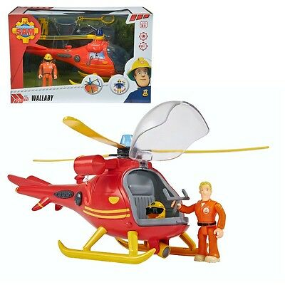 Fireman Sam - Mountain Rescue Helicopter with Character Tom Light & Sound
