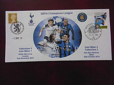 Tottenham Hotspur V Inter Milan Ucl 2010 First Day Cover